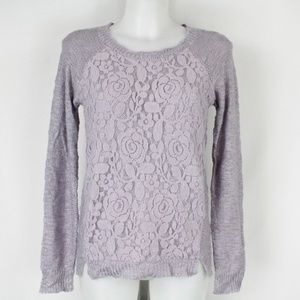 Sanctuary Purple Long Sleeve Sweater Size XS